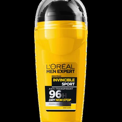 Déodorant anti-transpirant 96h invincible sport MEN EXPERT, bille de 50ml