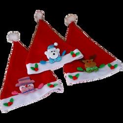 Bonnet de Noël pour enfants-modèles assortis:bonhomme de neige rose,renne,ours polaire bleu