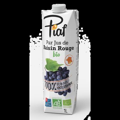 Pur jus de raisin rouge bio PIAF; brique de 1 litre