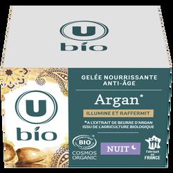 Gelée de nuit nourrissante anti-âge à l'argan Bio U, 50ml