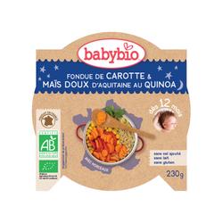 Ass Bonne nuit fondue de carotte, mais et quinoa BABYBIO dès 12 mois 230g