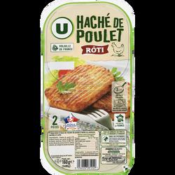 Haché de poulet cuit U s/at, 2x80g soit 160g