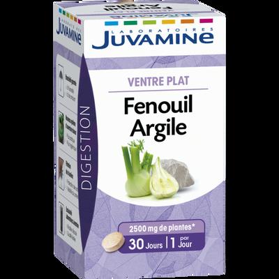 Digestion ventre plat Fenouil argile JUVAMINE, 30 comprimés