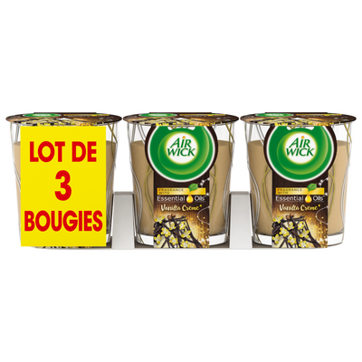 Bougie edition limitée vanille AIR WICK x3