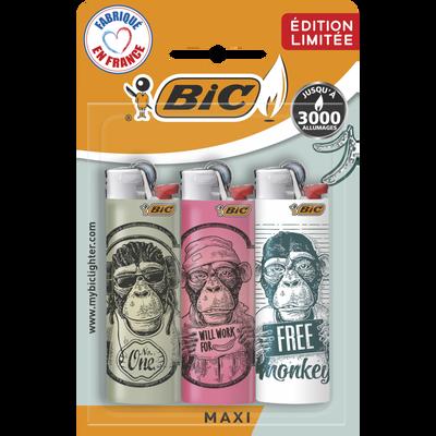 Briquets monkey J26 BIC blister x3