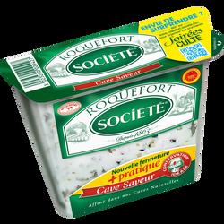 Roquefort AOP au lait cru de brebis, SOCIETE, 31,7%de MG, cave saveurde 150g