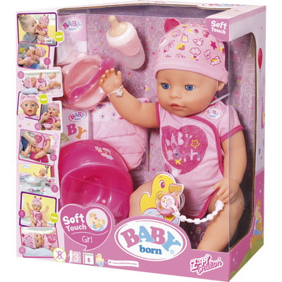 Baby born soft touch fille, 43 cm