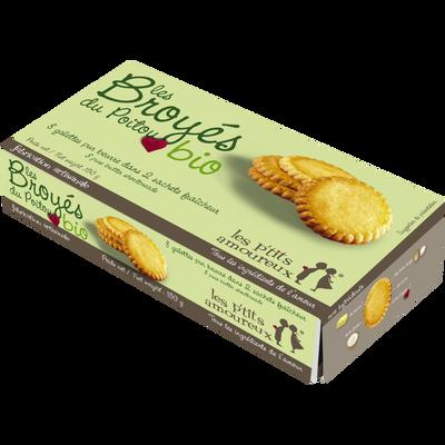 Biscuits beurre les broyés Poitou BIO LES P'TITS AMOUREUX, 150g