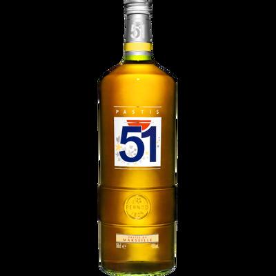 Pastis 51, 45°, bouteille de 1,5l