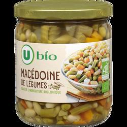 Macédoine de légumes U BIO, bocal en verre 400g 265g