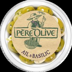Olive ail et basilic, barquette, 150g