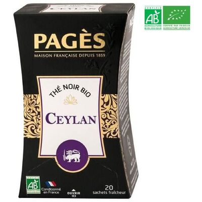 THE NOIR CEYLAN PAGES 20 sachets