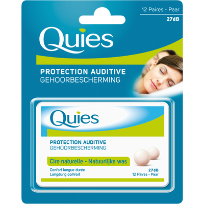 Protection auditives en cire naturelle QUIES, x24