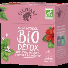 Infusion bio détox ELEPHANT, 20 sachets, boîte de 34g