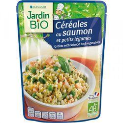 Céréales aux saumon et petits légumes JARDIN BIO 220g