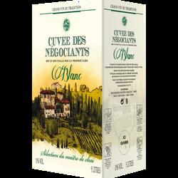 Vin blanc d'Espagne Cuvée des Négociants, fontaine à vin de 5l