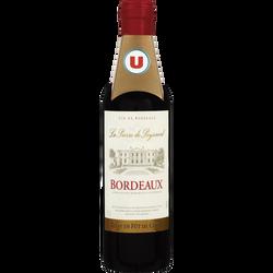 Bdx AOC rouge La Pierre/Peyssard U élevé fûts/chêne 37,5cl