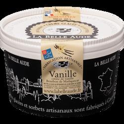 Crème glacée vanille Bourbon de Madagascar LA BELLE AUDE, pot de 356G