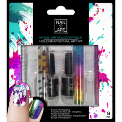 Kit nail art holographique, N156 MISS DEN