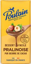 Chocolat 1848 pralinoise pour dessert POULAIN, tablette de 180g