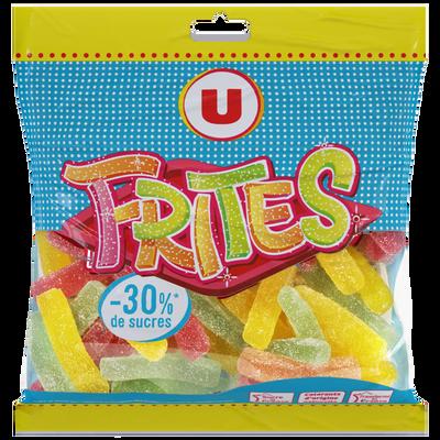 Gélifiés frites 30% de sucre en moins U, sachet de 175g