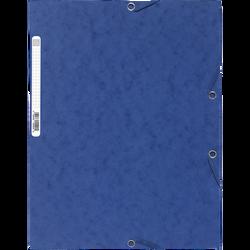 Chemise à élastique 3 rabats EXACOMPTA, 24x32 cm, carton, bleu
