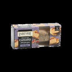 Délice de canard (20% de foie gras) à la figue LABEYRIE, barquette 75g