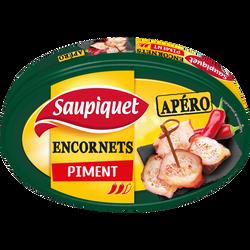 Encornets à l'huile pimentée SAUPIQUET, boîte de 110g