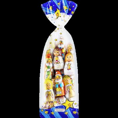 Attaches anges et pères Noël alu lait fairtrade cocoa RIEGELEIN, sachet 240g