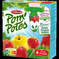 POM'POTES pom/frse allégée en sucre Héli'Bouchon MATERNE, 4x90g