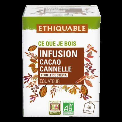 Infusion cacao cannelle equateur bio ETHIQUABLE, 30g
