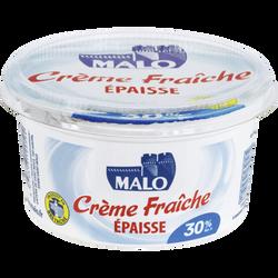 Crème fraîche épaisse MALO,  30% de MG, pot de 50cl