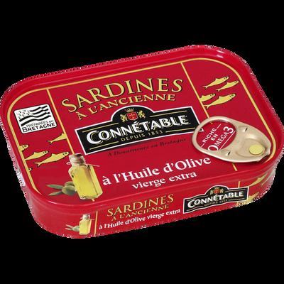 Sardines à l'huile d'olive CONNÉTABLE, boite de 115g