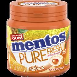 Chewing-gum sans sucre goût tropical MENTOS, boîte de 50 dragées soit100g