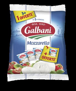 Galbani Mozzarella Au Lait Pasteurisé Galbani, 19% De Mg, 3x125g +1 Offerte Soit 500g