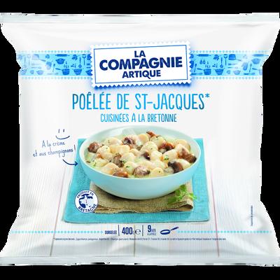 Pôelée St Jacques cuisinée à la bretonne 40% de noix, COMPAGNIE ARTIQUE , 400g