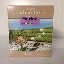 Merlot vin des coteaux de l'Ardèche Cave de Lablachère 5L