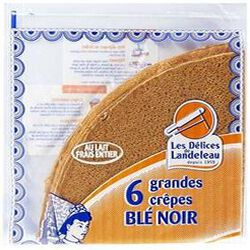 6 grandes crêpes blé noir LES DELICES DE LANDELEAU 180gr