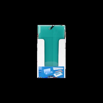 """Chemise 3 rabats """"Travel Pocket"""", 23,5x12cm, 1 unité, coloris assortis"""