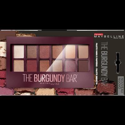 """Palette ombre à paupières """"The burgundy bar"""" - blister MAYBELLINE"""