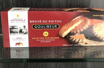 15 galettes pur beurre broyé du Poitou Goulibeur 280g