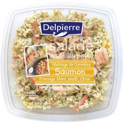 Salade saumon céréales, DELPIERRE, transformé en France, 250g