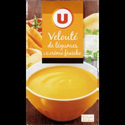 Velouté de légumes à la crème U, brique de 1l
