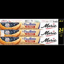 Marie Pâtes À Tarte Feuilletées Pur Beurre , 2x230g + 1 Offert 690g