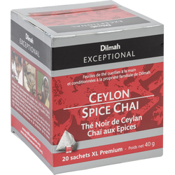 Thé noir de Ceylan chaï épices de ceylan DILMAH, sachet 40g