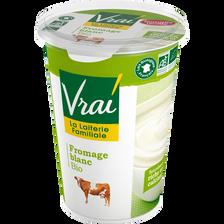 Vrai  Fromage Blanc Nature Au Lait Pasteurisé Bio , 3,6 % De Mg, Pot De500g