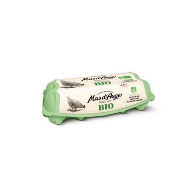 Oeufs sans OGM moyen/gros bio MAS D'AUGE, x10