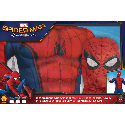 Panoplie Spiderman homecoming avec gants et cagoule taille S