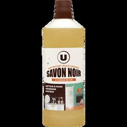 Nettoyant savon noir multi-usages à l'huile de lin U, flacon de 1l