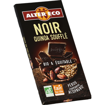 Alter Eco Chocolat Noir Bio Au Quinoa Alter Eco, Tablette De 100g